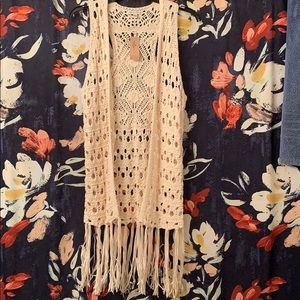 Crochet fringe cardigan
